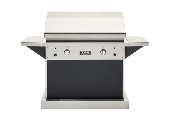 """TEC Infrared Grill Patio FR Grill Series 44"""" on Black Pedestal"""