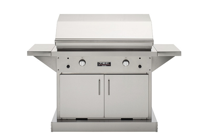 """TEC Infrared Patio FR Grill Series 44"""" on Stainless Cabinet"""