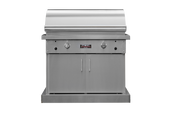 "TEC Series 44"" Sterling Patio FR Grill on Stainless Cabinet"