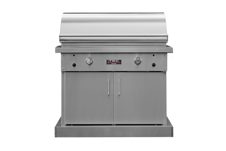 """TEC Series 44"""" Sterling Patio FR Grill on Stainless Cabinet"""