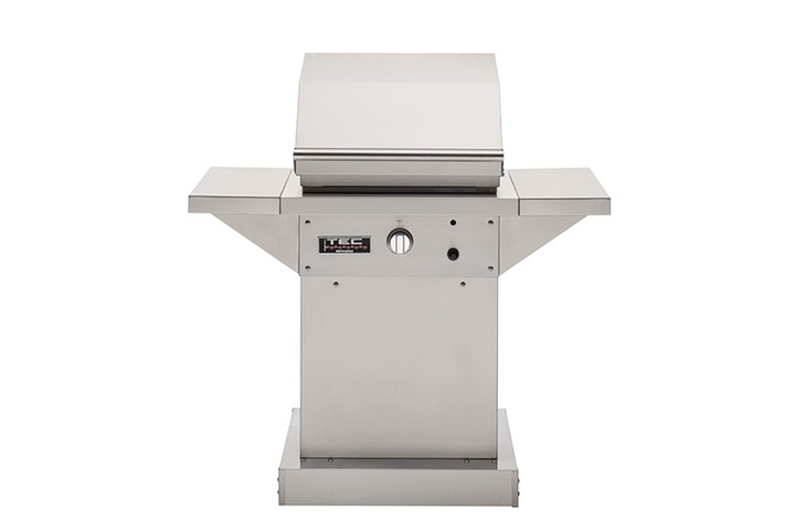 "TEC Patio 26"" Gas Grill on a Stainless Steel Pedestal"