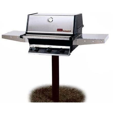 THRG2 Hybrid Natural Gas Grill W/ SearMagic Grids On In-Ground Post