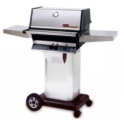 MHP TJK Grill on Stainless Steel Cart