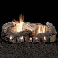Stacked Age Oak log set