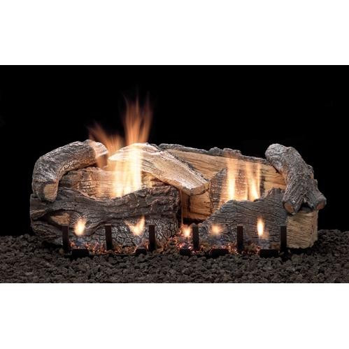Empire White Mountain Stacked Aged Oak log and burner set