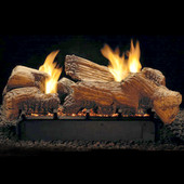 Stone River Ceramic Log and Burner Set