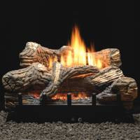 24-in Flint Hill Gas Log Set | Millivolt Valve