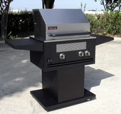 Elite II Infrared Grill on Pedestal w 1 Side Shelf