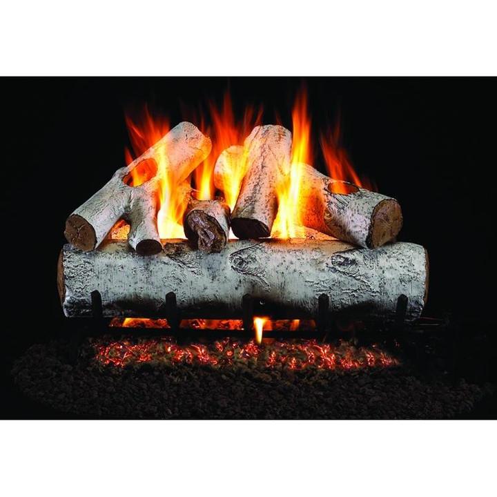 White Birch Gas Log Set