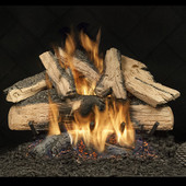"Elegant Charred Split Oak 24"" Vented Liquid Propane Logs"