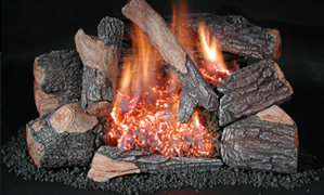 Evening Embers C8-Double Burner Set | 18-inch
