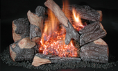 "Rasmussen Chillbuster 30"" Evening Embers Gas Log Set"