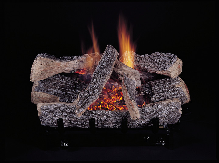 """HH18"""" Evening Embers, 8-Piece, Bark/Split, Vent Free, Logs Only"""