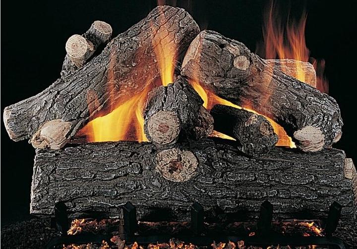 """Rasmussen 42"""" Prestige Oak Single Face Gas Logs Only"""