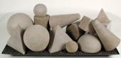 Geometric shapes Natual 15 pieces
