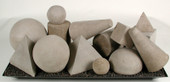 Geometric shapes natural 18 pieces