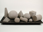 Geometric shapes Light Gray 10 pieces