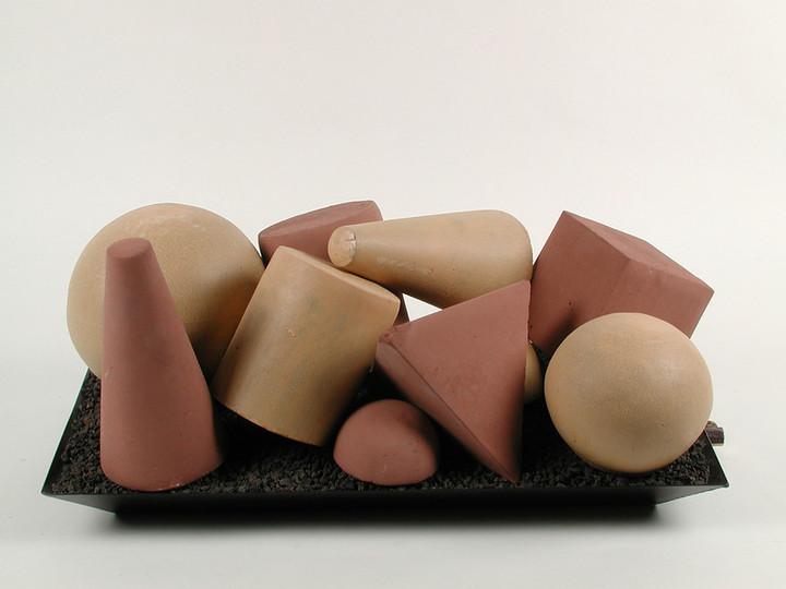 Geometric shapes Beige 6 pieces