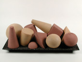 Geometric shapes Beige 11 pieces