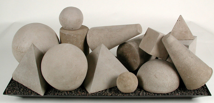 Geometric shapes White 15 pieces
