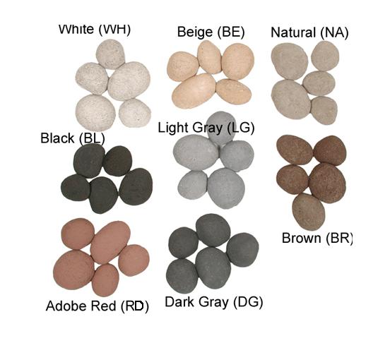 FireStones | 6 Large Stones | Brown