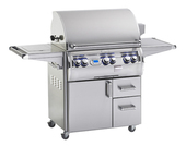 Fire Magic Echelon 660s Grill On Cart w Single Side Burner