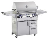 "Fire Magic Echelon ""A"" 660s Grill On Cart w Single Side Burner"