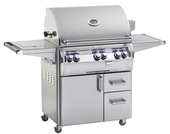 "Fire Magic Echelon ""A"" 660s Grill On Cart w Single Side Burner"