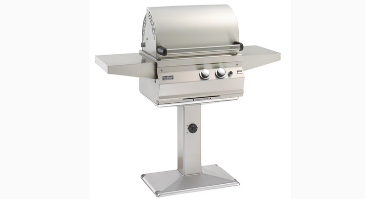 Firemagic Legacy Deluxe Grill on Patio Post
