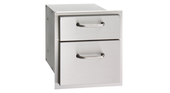 Stainless Steel Double Drawer, AOG   16-15-DSSD