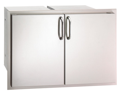 """Firemagic Select 30"""" Double Access Door With Drawers And Trash Bin Storage"""