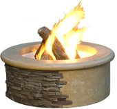 American Fyre Designs Cafe Blanco Contractor's Model Fire Pit