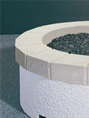"34"" Plain Concrete Top Ring"