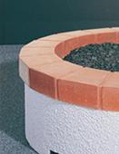 Red Tile Ring for American Fyre Stucco Firepit