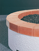 Red Tile Ring for American Fyre Stucco Firepit