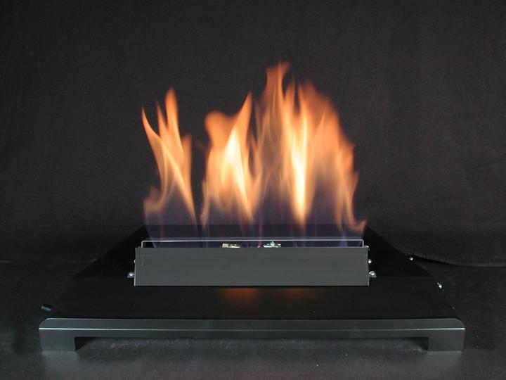 "American Fireglass 24"" Single Black Vent Free Burner"