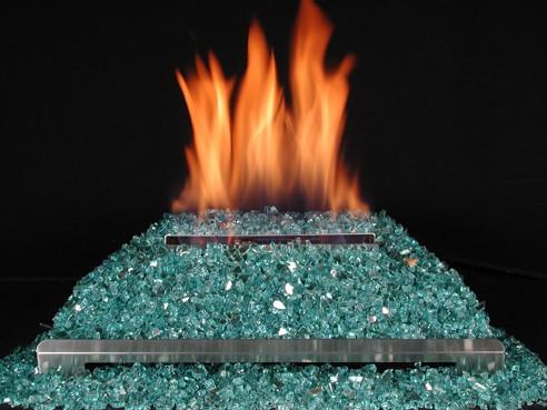 "American Fireglass 20"" Single Stainless Vent Free Burner"