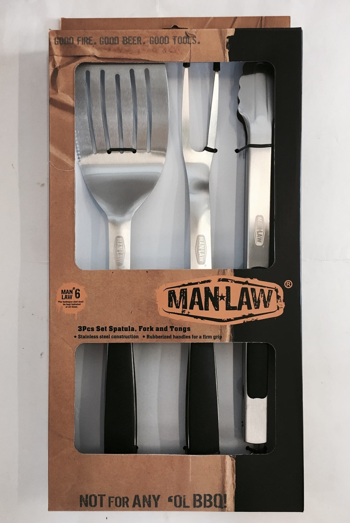 Man Law BBQ 3 piece Tool Set