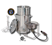 Turkey Fryer Kit | Stainless Steel Pot w Spigot (Drain Valve)