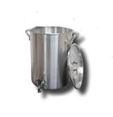 30 Qt. Aluminum Turkey Pot | Spigot, Lid, Lifting Rack, Hook