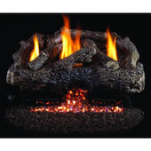 "Real Fyre 18"" Charred Frontier Oak Log Set w G10, Variable Remote"