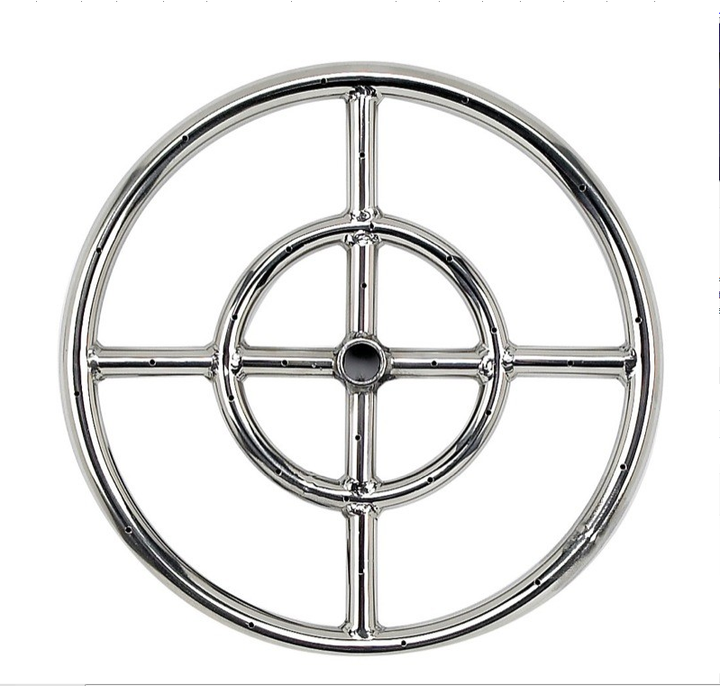 "12"" Double-Ring Firepit Burner"
