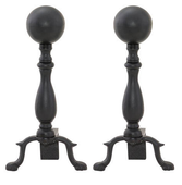 Ball Fireplace Andiron w short shank