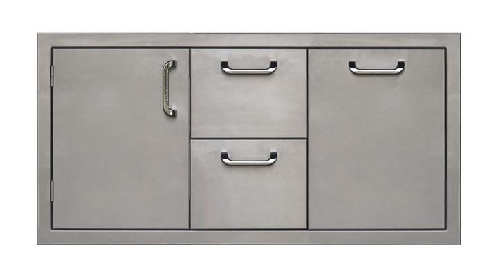 42 built-in drawer door combo unit