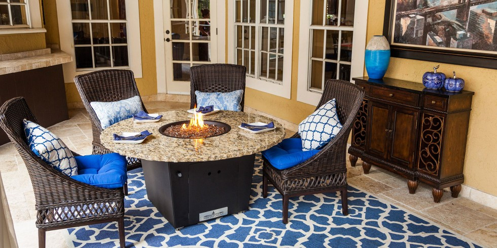 Firetainment Naples 54 Quot Round Firepit Grilling Table