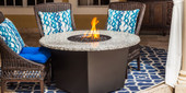 "Riviera 48"" Round Fire Pit Grilling Table"