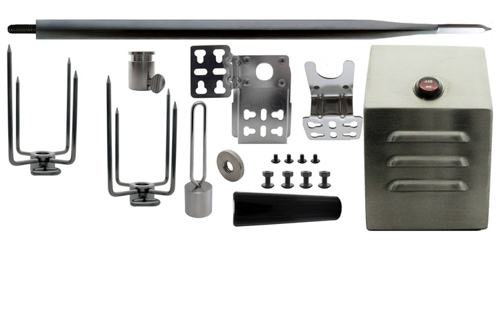 "60"" Hexagon Stainless Rotisserie Spit Kit with Heavy Duty Motor"