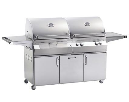 Fire Magic Aurora A830I Charcoal/Gas Grill on Cart