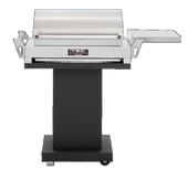 G-Sport FR Grill w Black Pedestal, Side Shelf & Warming Rack