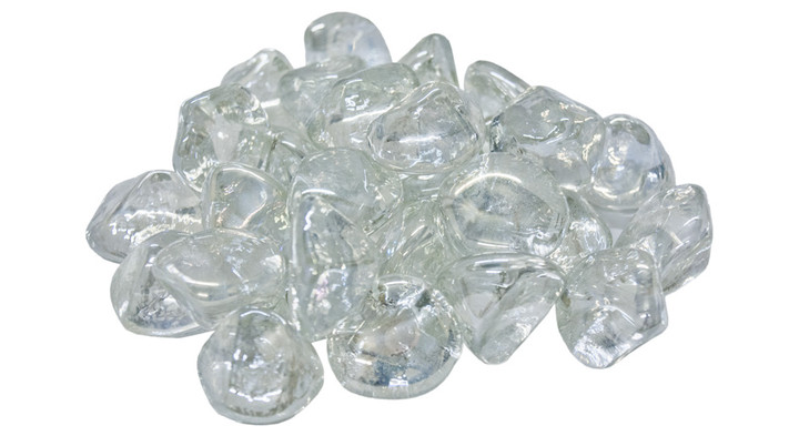 American Fyre Clear Diamond Nuggets Fire Glass